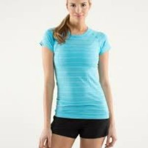 e80b975d8a lululemon athletica Tops - Lululemon Run Swiftly SS Tee - sz 8 Spry Blue
